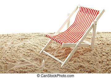浜の 椅子, 上に, 砂