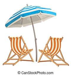 浜の 椅子, 傘, 2