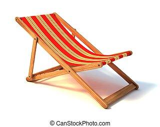 浜の 椅子, 隔離された