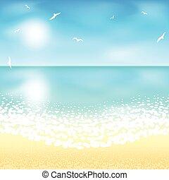 浜の 砂, 日没, time.