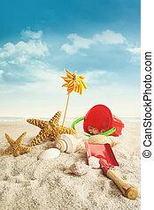浜, に対して, 青, おもちゃ, 空