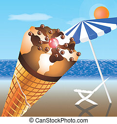 浜, アイスクリーム