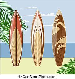 浜, サーフボード