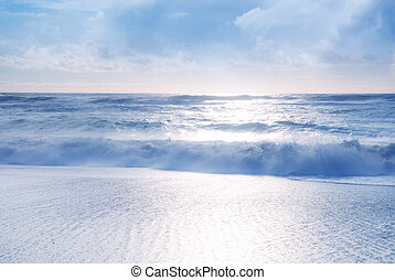 浜, トロピカル, 美しい, 光景