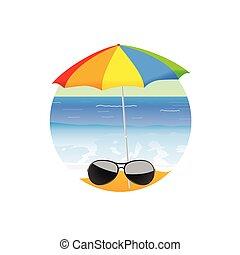 浜, ベクトル, 芸術, 漫画, sunglass