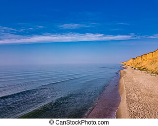 浜, 光景, 砂, 航空写真