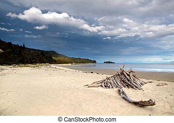 浜, 国立公園, abel, tasman