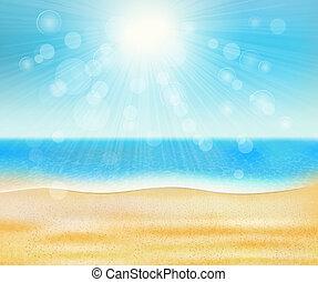 浜, 夏, 海