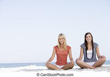 浜, 女性, 瞑想する, 2, モデル