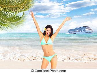 浜。, 女, 幸せ