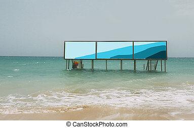 浜, 広告, サイン