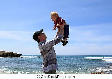 浜, 彼の, 娘, 父