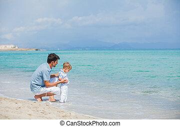浜, 彼の, 父, 息子