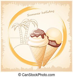 浜, 旗, アイスクリーム