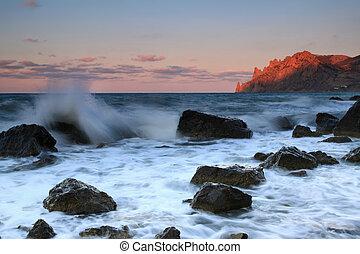 浜, 日の出, 海洋