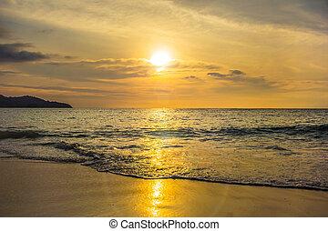 浜, 日没