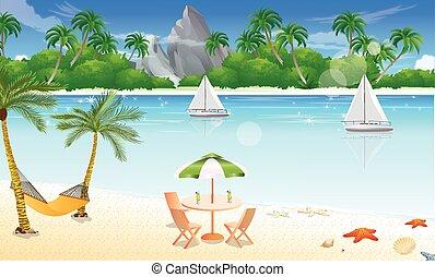 浜, 日, イラスト