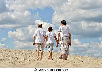 浜, 日, 家族, 夏
