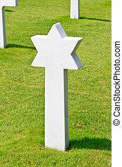浜, 星, omaha, (colleville-sur-mer), 墓地, david, 兵士, アメリカ人, ...