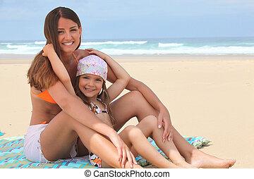 浜, 母, 娘, モデル