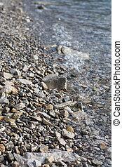 浜, 海, 背景, 岩
