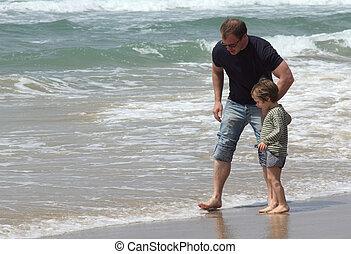 浜, 父, 息子