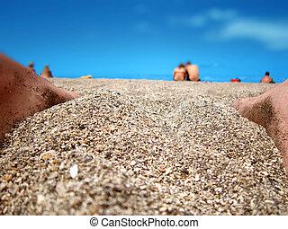 浜, 空,  Tenerife, 人々