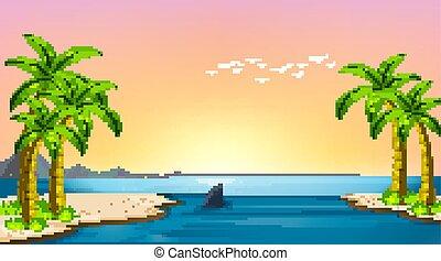 浜, 自然, 海洋, 空, 沿岸である, 風景