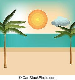 浜, 自然, 風景