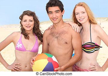 浜, 若い人々