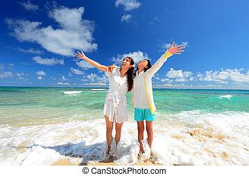 浜, 遊び, 家族