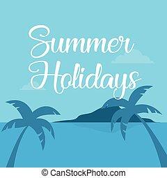 浜, 風景, 休暇, デザイン