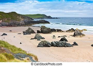 浜, durness, -, スコットランド
