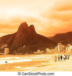浜, janeiro, ipanema, de, リオ, brazil.