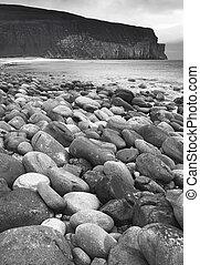 浜。, orkney., スコットランド, スコットランド, 小石, 風景, hoy