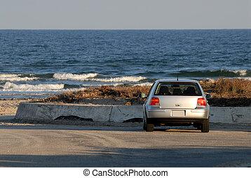 浜, padre, アメリカ, 自動車, 島, 駐車される, テキサス
