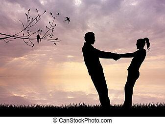 浪漫的夫婦