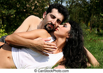 浪漫的夫婦, 在戶外