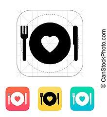 浪漫的晚餐, icon.