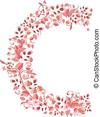 浪漫, 植物, 信件c