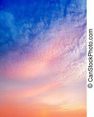 浪漫, 背景, 天空, 顏色