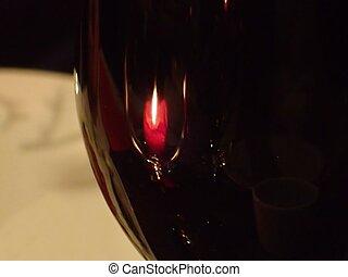 浪漫, 蜡燭光, 晚餐, 概念