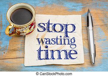 浪費, 止まれ, -, naokin, 時間, 手書き