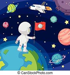 浮く, 宇宙飛行士, スペース