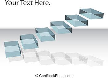 浮动, 楼梯