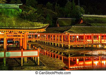 浮動, 聖地, 廣島,  miyajima