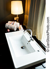浴室の 流し, ホテル