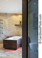 浴室, ドア, 贅沢