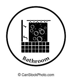 浴室, ホテル, アイコン