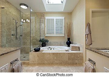 浴室, マスター, 天窓, 贅沢